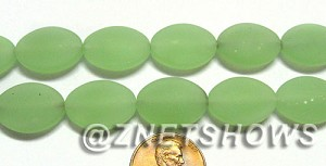 Cultured Sea Glass oval Beads  <b>18x13mm</b> 43-Opaque Seafoam Green    per  <b>11-pc-str</b>