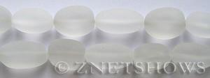 Cultured Sea Glass nugget Beads  <b>18-22mm</b> 01-Crystal (6-pc-str)(4-in-str)   per  <b>5-str-hank</b>