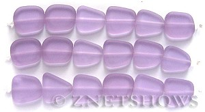 Cultured Sea Glass freeform flat Beads  <b>13-16mm</b> 39-Periwinkle Changes (4-in-str)(6-pc-str)   per  <b>5-str-hank</b>