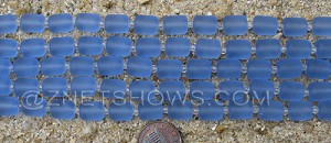 Cultured Sea Glass barrel nugget Beads  <b>10x8mm</b> 31-Light Sapphire (17-pc-str)   per  <b>5-str-hank</b>