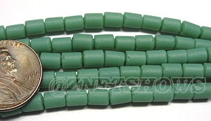 Cultured Sea Glass tube Beads <b>about 6x4mm</b> Other Colors  baby blue color (strand length 8 inches) per <b>5-str-hank</b>