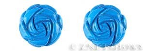 turquoise howlite  rose flower Pendants <b>30mm</b> carved    per   <b>piece</b>