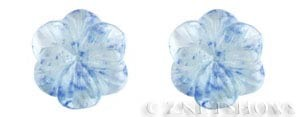 quartz glass -  blueberry flower Pendants <b>35mm</b> carved    per   <b>Piece</b>