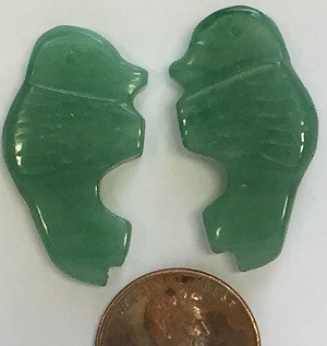 green aventurine  animal Beads <b>1.1 Inches</b>  1.1 Inch Large Aventurine Buffalo Bead per   <b>Piece</b>