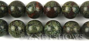 dragon blood jasper  round Beads <b>16mm</b>     per   <b> 8-in-str</b>