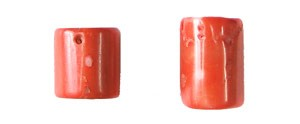 coral bamboo coral peach color tube Pendants <b>25-30x14-17mm</b>     per   <b> piece</b>