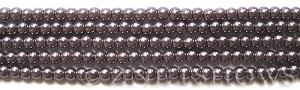 Glass Pearls <b>4mm</b> Round Amethyst K1168(15.5-in-str)    per <b>5-str-hank</b>