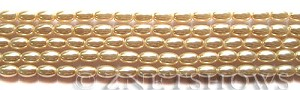 Glass Pearls <b>6x4mm</b> Rice Baby Pink Color K0165   per <b>15.5-in-str</b>