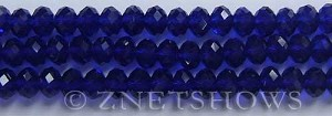 Tiaria Glass Crystal 33-Royal Blue rondelle Beads <b>8x5mm</b> faceted     per   <b> 10-str-hank</b>