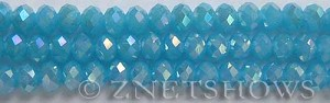 Tiaria Glass Crystal 46AB-Opaque Blue Opal AB rondelle Beads <b>8x5mm</b> faceted     per   <b> 10-str-hank</b>