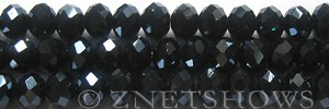 Tiaria Glass Crystal 100-Hematite rondelle Beads <b>10x8mm</b> faceted     per   <b> 10-str-hank (26-pc-str)</b>