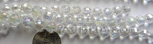 Tiaria Glass Crystal 01AB-Crystal AB round Beads <b>8mm</b> faceted     per   <b> 10-str-hank (27-pc-str)</b>