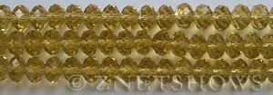 Tiaria Glass Crystal 10-Sunglow rondelle Beads <b>8x5mm</b> faceted     per   <b> 8-in-str</b>