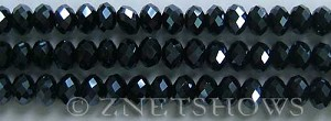 Tiaria Glass Crystal 100-Hematite rondelle Beads <b>8x5mm</b> faceted     per   <b> 8-in-str</b>