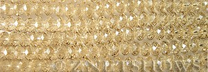 Tiaria Glass Crystal 69-Tan Color rondelle Beads <b>8x5mm</b> faceted     per   <b> 8-in-str</b>