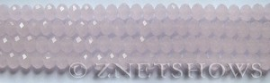 Tiaria Glass Crystal 48-Opaque Blossom Pink rondelle Beads <b>6x4mm</b> faceted     per   <b> 8.5-in-str (50-pc-str)</b>