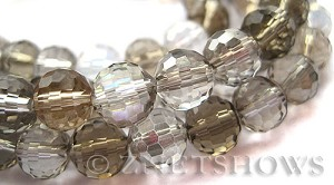 Tiaria Glass Crystal mixed colour Tiaria Mix Beads <b>8mm </b> faceted   per   <b> 10-str-hank (26-pc-str) </b>