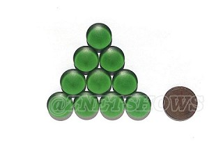 Cultured Sea Glass Cabachons and Art Tiles Coin Puffed <b>15mm</b> 25-Shamrock per <b>10-pc-bag</b>