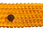 Cultured Sea Glass rondelle Beads <b>14x10mm</b> 57-Saffron Yellow per <b>5-str-hank</b>