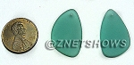 Cultured Sea Glass eclipse Pendants <b>25x17mm</b> 89-Autumn Green per <b>2-pc-bag</b>