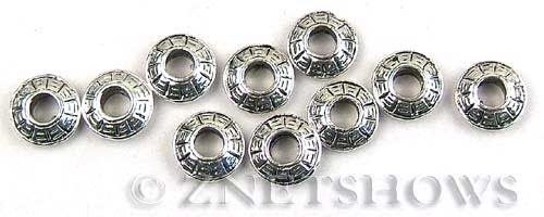 BM Large Hole Beads <b>13mm</b> Other Colors silver color disc spacer beads per   <b>10-pc-bag</b>