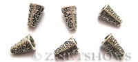 Base Metal Beads <b>10x7mm</b> Antique Silver Tone Cone (same piece qty as the 5-bag-hank) per   <b>60-pc-bag</b>