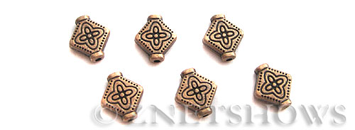 Base Metal Beads <b>10x9mm</b> Antique Copper Tone  (12-pc-bag) per   <b>5 Bags</b>