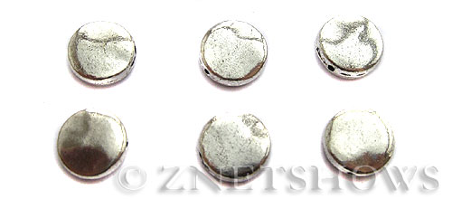 Base Metal Beads <b>11mm</b> Antique Silver Tone (6-pc-bag) per   <b>5 Bags</b>
