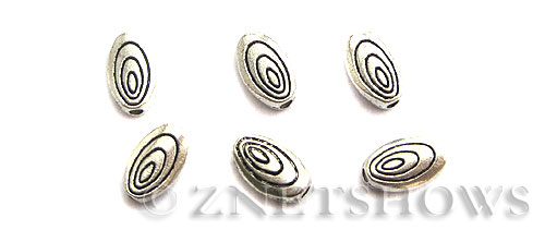Base Metal Beads <b>10x6mm</b> Antique Silver Tone Tree Ring  (18-pc-bag) per   <b>5 Bags</b>