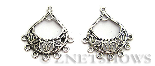 Base Metal Charms <b>34x30mm</b> Antique Silver Tone (4-pc-bag) per   <b>5 Bags</b>