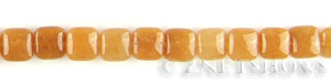 red aventurine  square puffed Beads <b>10mm</b>   per   <b>15.5-in-str</b>