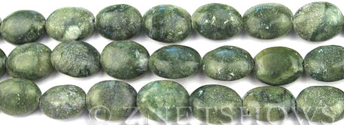 Other Stones & Materials - color marble oval nugget Beads <b>16x12mm</b>  green stone per   <b>15.5-in-str</b>
