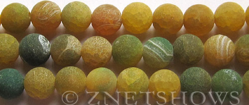 Fire Agate  round Beads <b>12mm</b>  yellow color per   <b>10-str-hank</b>