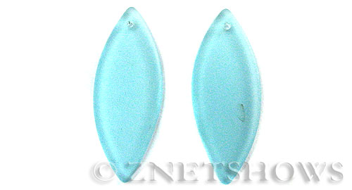 Cultured Sea Glass marquise spindle Pendants  <b>48x19mm</b>  28-Turquoise Bay    per  <b>piece</b>