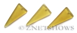 Cultured Sea Glass shield Pendants  <b>37x15mm</b> 84-Lemon triangle   per  <b>10-pc-bag</b>