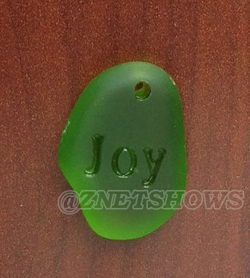Cultured Sea Glass engraved Pendants  <b>30x12mm</b> 22-Olive    per  <b>1-pc-bag</b>