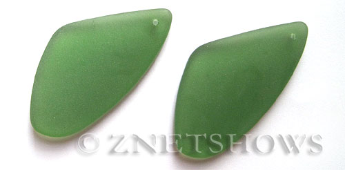 Cultured Sea Glass sun dial Pendants  <b>53x22mm</b> 25-Shamrock triangle   per  <b>piece</b>