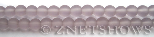 Cultured Sea Glass round Beads  <b>6mm</b> 39-Periwinkle Changes (32 pcs in 8-in-str)   per  <b>5-strand-hank</b>
