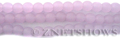Cultured Sea Glass round Beads  <b>8mm</b> 85-Opaque Periwinkle    per  24 pcs in 8-in-str <b>5-str-hank</b>