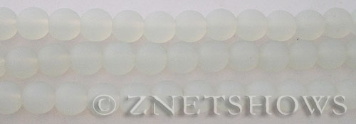 Cultured Sea Glass round Beads  <b>8mm</b> 86-Moonstone Opal    per  24 pcs in 8-in-str <b>5-str-hank</b>