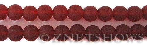 Cultured Sea Glass round Beads  <b>10mm</b> 05-Cherry Red    per  19 pcs in 8-in-str <b>5-strand-hank</b>