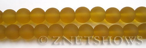 Cultured Sea Glass round Beads  <b>10mm</b> 16-Desert Gold    per  19 pcs in 8-in-str <b>5-strand-hank</b>