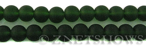 Cultured Sea Glass round Beads  <b>10mm</b> 25-Shamrock    per  19 pcs in 8-in-str <b>5-strand-hank</b>