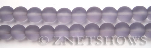 Cultured Sea Glass round Beads  <b>10mm</b> 39-Periwinkle Changes    per  19 pcs in 8-in-str <b>5-strand-hank</b>