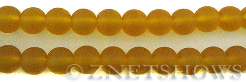 Cultured Sea Glass round Beads  <b>10mm</b> 57-Saffron Yellow    per  19 pcs in 8-in-str <b>5-strand-hank</b>