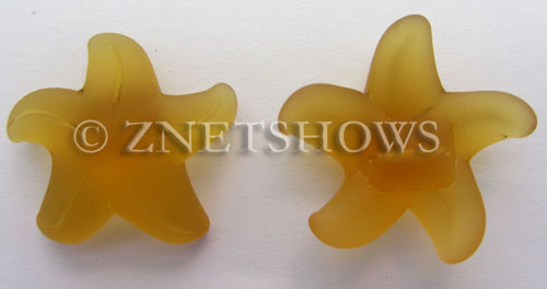 Cultured Sea Glass starfish large Pendants  <b>32mm</b> 16-Desert Gold    per  <b>7-pc-bag</b>