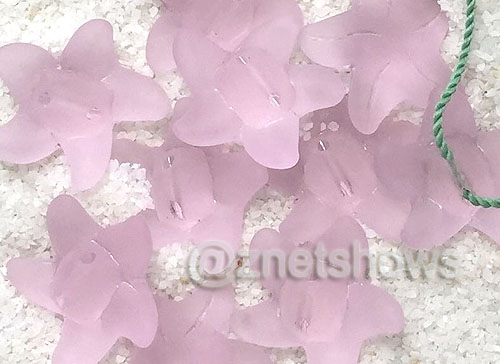 Cultured Sea Glass starfish small Beads  <b>20x7mm</b> 39-Periwinkle Changes 10-pc-str(bag)   per  <b>10-pc-bag</b>