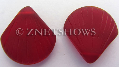 Cultured Sea Glass shell Pendants  <b>30x28mm</b> 05-Cherry Red    per  <b>10-pc-bag</b>