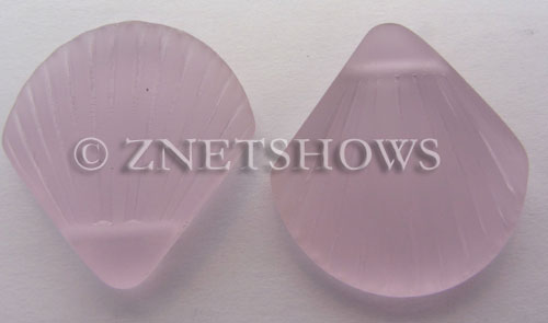 Cultured Sea Glass shell Pendants  <b>30x28mm</b> 06-Blossom Pink    per  <b>10-pc-bag</b>
