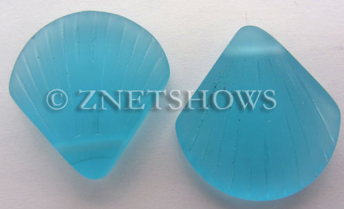 Cultured Sea Glass shell Pendants  <b>30x28mm</b> 28-Turquoise Bay    per  <b>10-pc-bag</b>